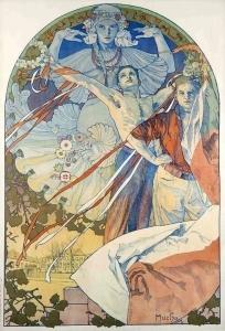 布拉格第八届索科尔节的海报_Poster for the 8th Sokol Festival in Prague-阿尔丰斯·穆夏