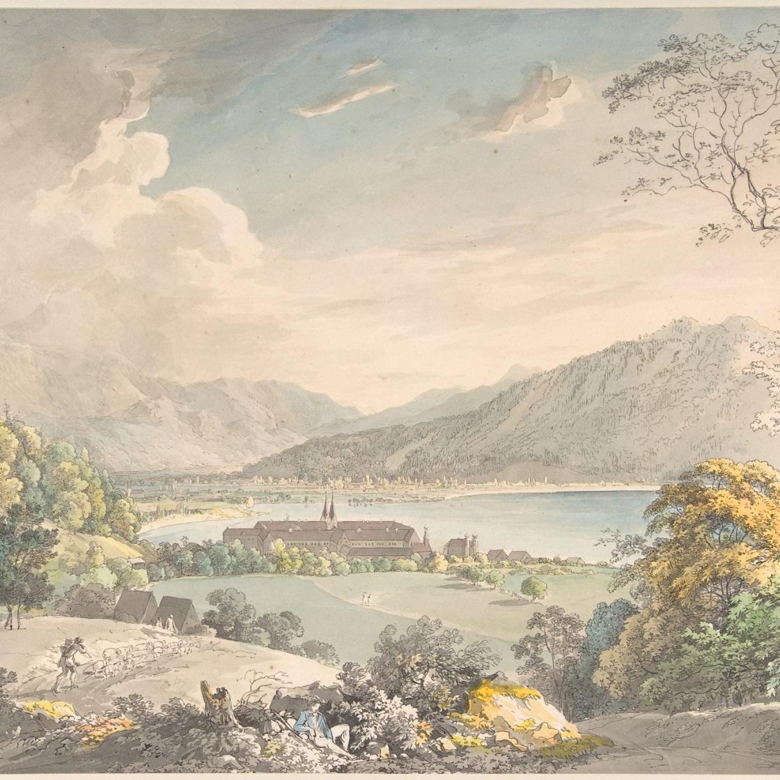 从东北方向看泰根西的修道院-约翰·乔治·冯·迪利斯