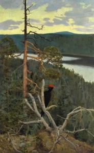 大黑啄木鸟(Palokarki)(又称荒野)_The Great Black Woodpecker (Palokarki)(also known as Wilderness)-亚克瑟利·加伦·卡雷拉