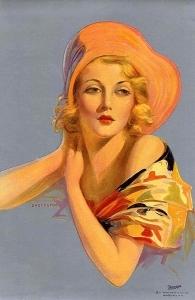 戴帽子的女士_Lady in a Hat-爱德华·梅森·爱格斯顿