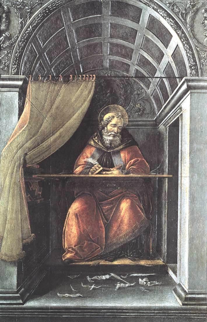 圣奥古斯丁在他的牢房里