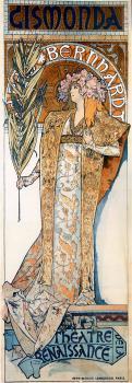 Gismonda(也与女演员Sarah Bernhardt)_Gismonda(also known as with actress Sarah Bernhardt)-阿尔丰斯·穆夏
