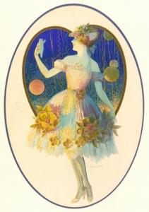 花衣少女_Heart Girl with Flowered Dress-爱德华·梅森·爱格斯顿