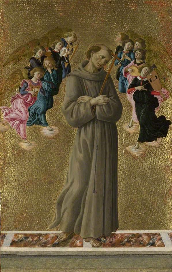 阿西西的圣弗朗西斯与天使