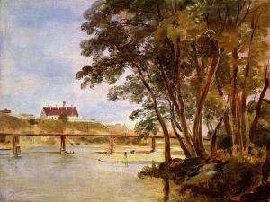 普拉特岛,可看到行人木屋位置_Praterinsel mit Blick zum Siechenhaus auf dem Gasteig-约翰·乔治·冯·迪利斯
