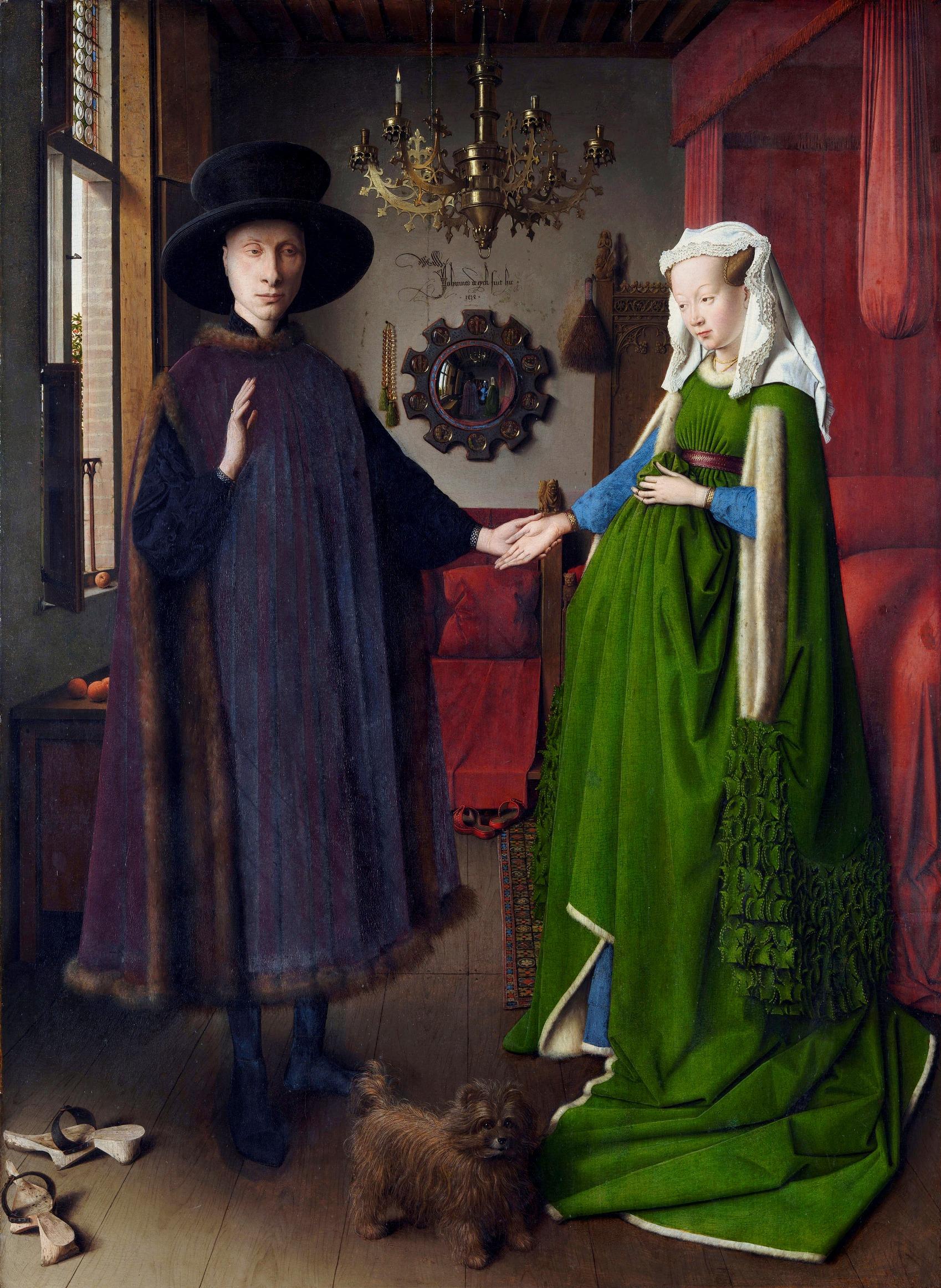 乔凡尼画像(?)阿尔诺菲尼和他的妻子_Portrait of Giovanni (?) Arnolfini and his Wife-扬·凡·艾克