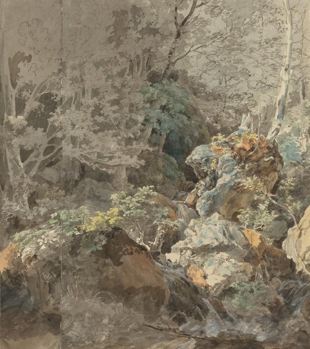 山林中的瀑布-约翰·乔治·冯·迪利斯
