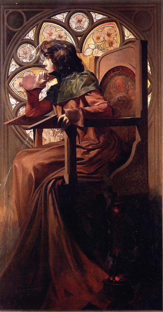 莎拉·伯恩哈特的肖像_Portrait of Sarah Bernhardt-阿尔丰斯·穆夏