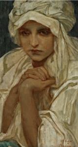 少女画像_Portrait of a Girl-阿尔丰斯·穆夏