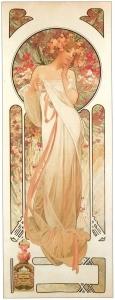 Sylvanis香水广告_Sylvanis perfume advertisement-阿尔丰斯·穆夏