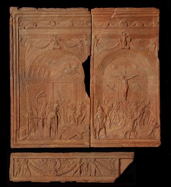 Forzori祭坛:鞭打和十字架_The Forzori Altar: Flagellation and Crucifixion-多纳泰罗