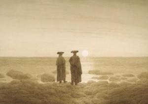 月光_Moonrise-卡斯帕·大卫·弗里德里希
