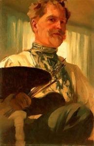 自画像_Self Portrait-阿尔丰斯·穆夏