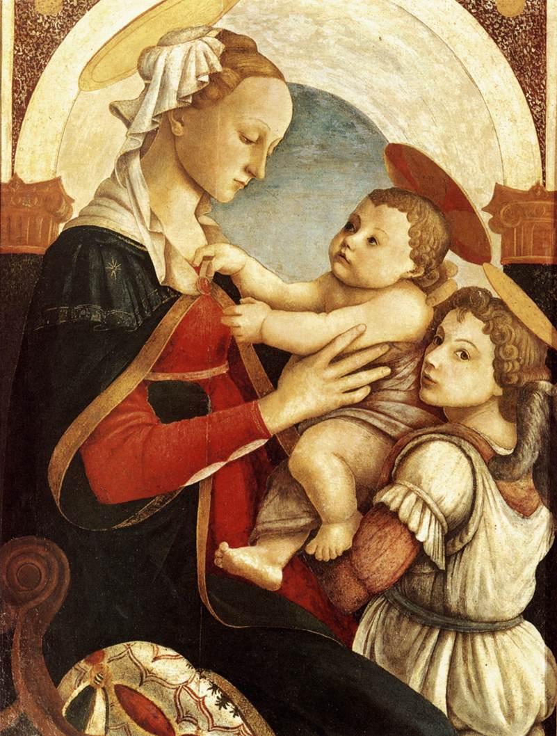 圣母、圣婴和一个天使