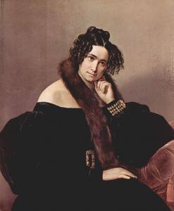 Felicina Caglio Perego di Cremnago的肖像_Portrait of Felicina Caglio Perego di Cremnago-弗朗切斯科·保罗·海耶兹