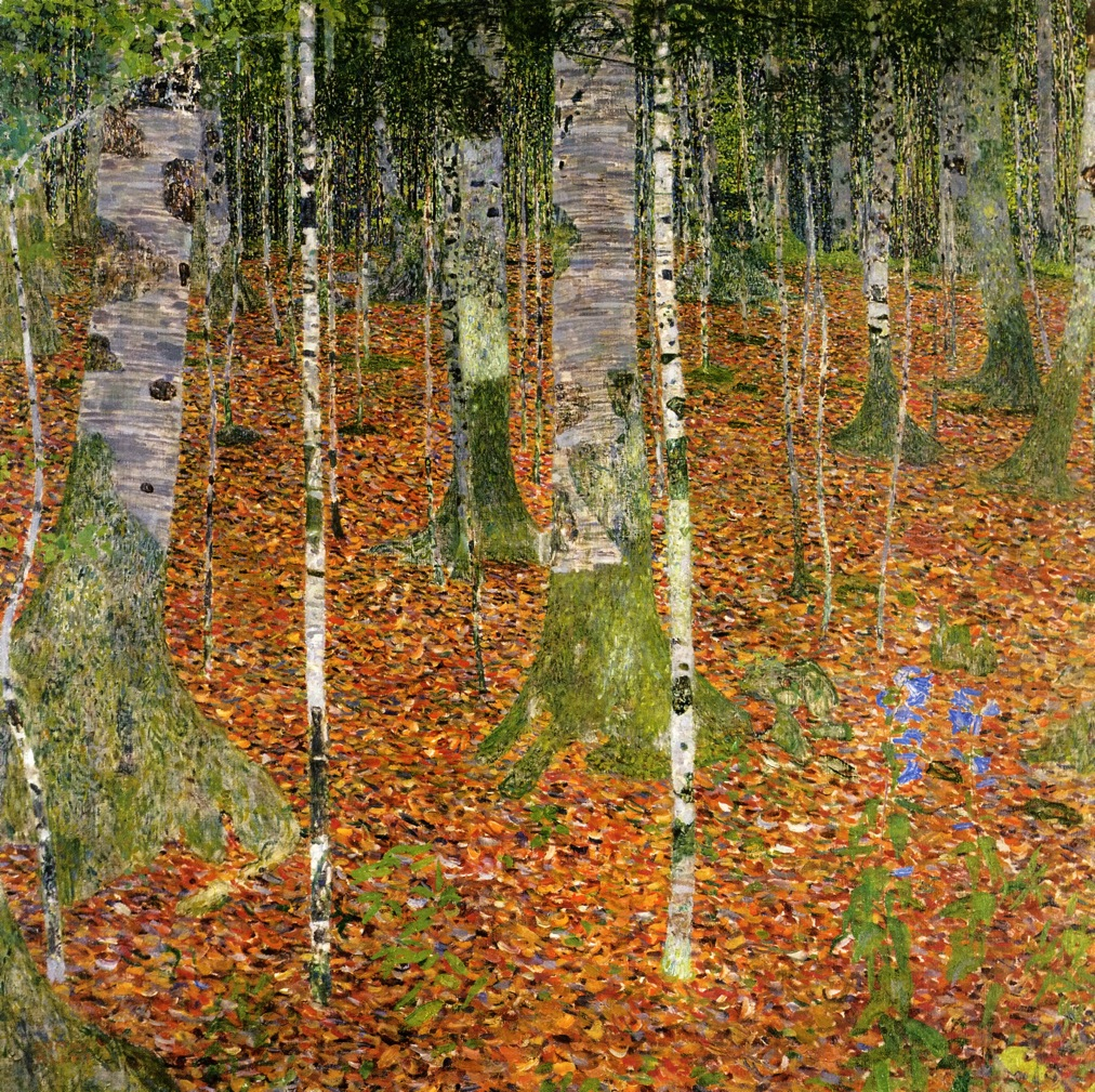 桦林_Birch Forest-古斯塔夫·克里姆特