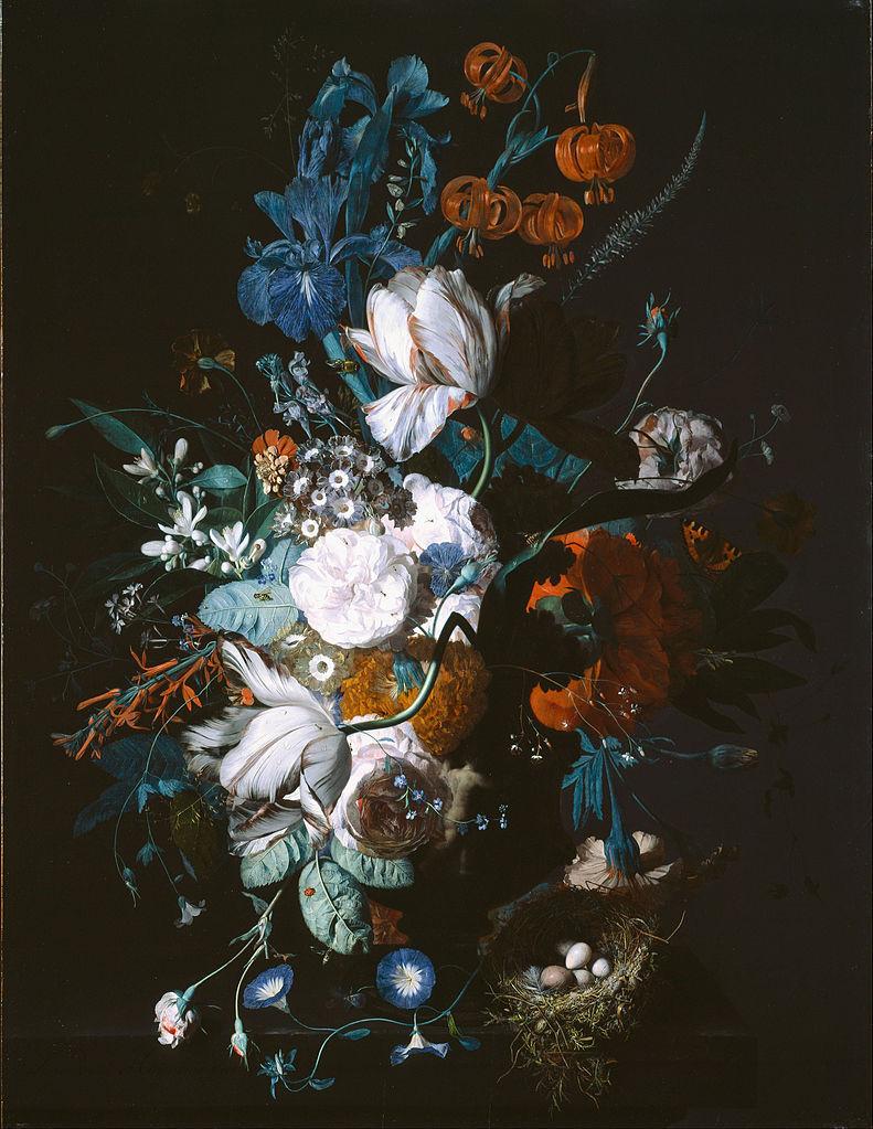花瓶和花_Vase with Flowers-扬·范·休森