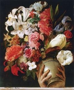 花瓶(后宫窗上花瓶的研究)(又名Vaso di Fiori)_Vase of Flowers (study for 'Vase of Flowers on the Window of a Harem'(also known as Vaso di Fiori)-弗朗切斯科·保罗·海耶兹
