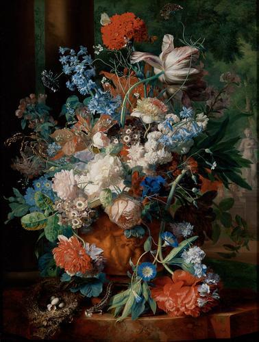 花瓶里的花_Vase of Flowers-扬·范·休森