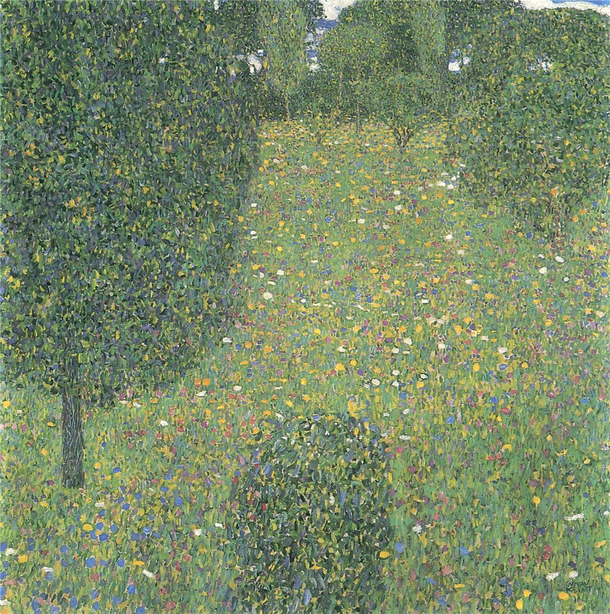 "景观花园(又称""花丛"")_Landscape Garden(also known as 'Meadow in Flower')-古斯塔夫·克里姆特"