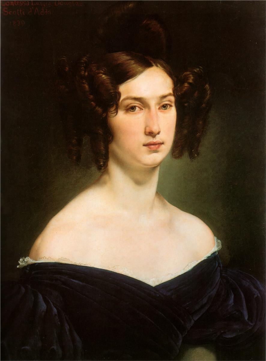 路易娅·道格拉斯·斯科蒂·达达伯爵夫人画像_Portrait of Countess Luigia Douglas Scotti d'Adda-弗朗切斯科·保罗·海耶兹