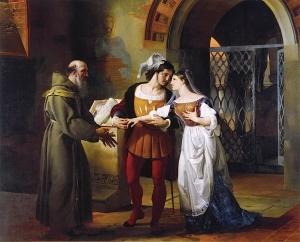 罗伦佐神父见证了罗密欧与朱丽叶的订婚仪式_The Betrothal of Romeo and Juliet witnessed by Father Lorenzo-弗朗切斯科·保罗·海耶兹