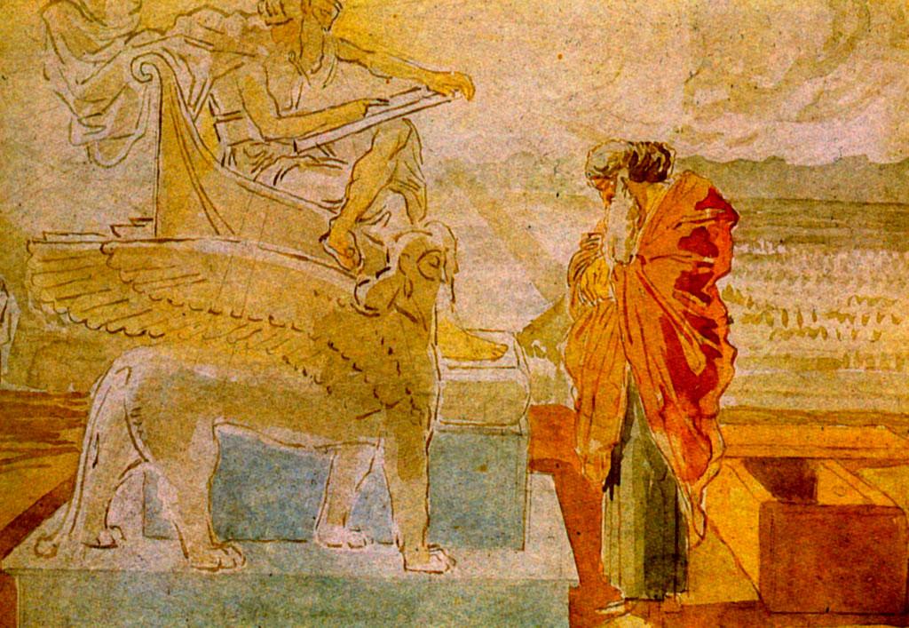 摩西在上帝面前(小品)_Moses before God (sketch)-亚历山大·伊万诺夫