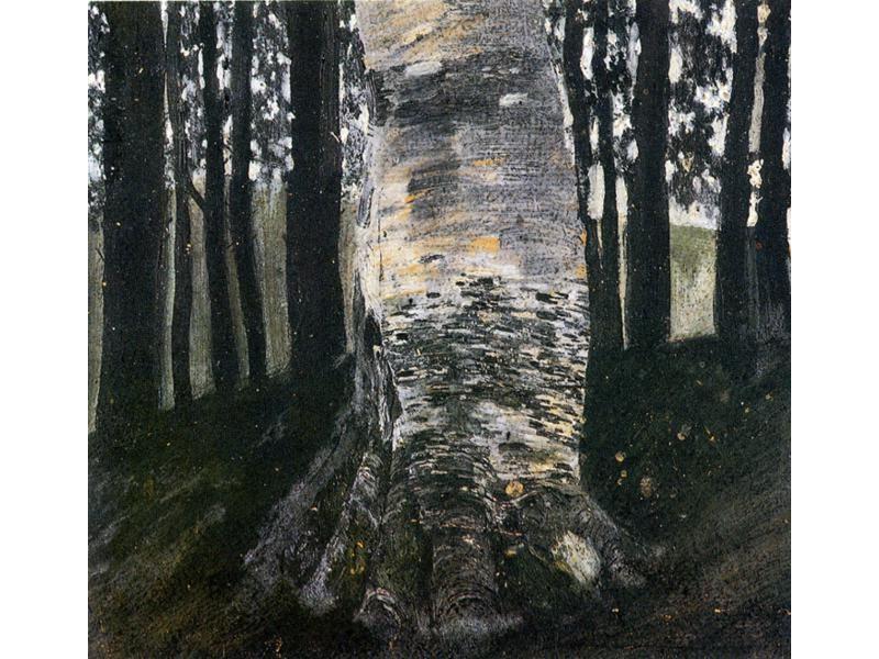 森林里的桦树_Birch in a Forest-古斯塔夫·克里姆特