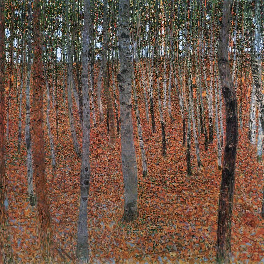 山毛榉林_Forest of Beech Trees-古斯塔夫·克里姆特