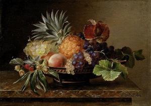水果静物_Still Life of Fruit-约翰·劳伦兹·詹森