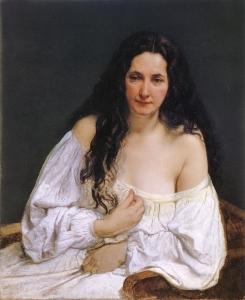 头发散开的女人肖像_Portrait of a Woman with Her Hair Spread Out-弗朗切斯科·保罗·海耶兹
