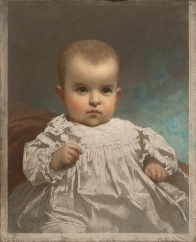 威尔逊宝宝的肖像_Portrait of the Wilson Baby-伊士曼·约翰逊