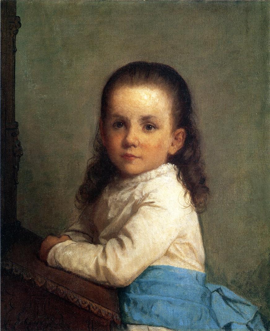 维尼·帕卡德的肖像_Portrait of Vinnie Packard-伊士曼·约翰逊