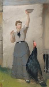 喂养火鸡_Feeding the Turkey-伊士曼·约翰逊