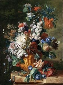 瓮中的花束_Bouquet of Flowers in an Urn-扬·范·休森