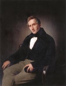 亚历山德罗·曼佐尼的肖像_Portrait of Alessandro Manzoni-弗朗切斯科·保罗·海耶兹