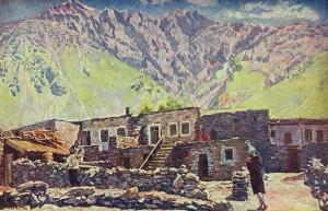 格鲁吉亚。沙特尔山和村庄_Georgia. Mount Shat and Village-伊利亚·马什科夫
