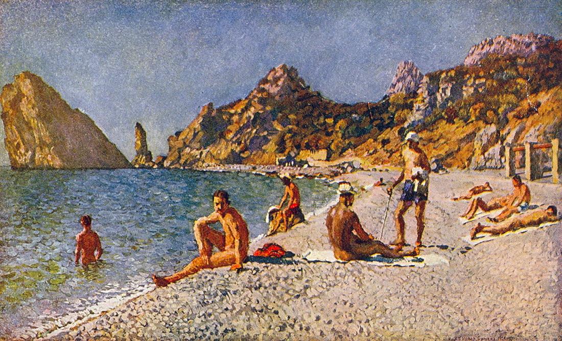 海滩Simeiz_Beach in Simeiz-伊利亚·马什科夫
