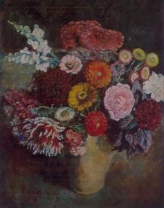 黑暗背景上的花束_Bouquet on a dark background-伊利亚·马什科夫
