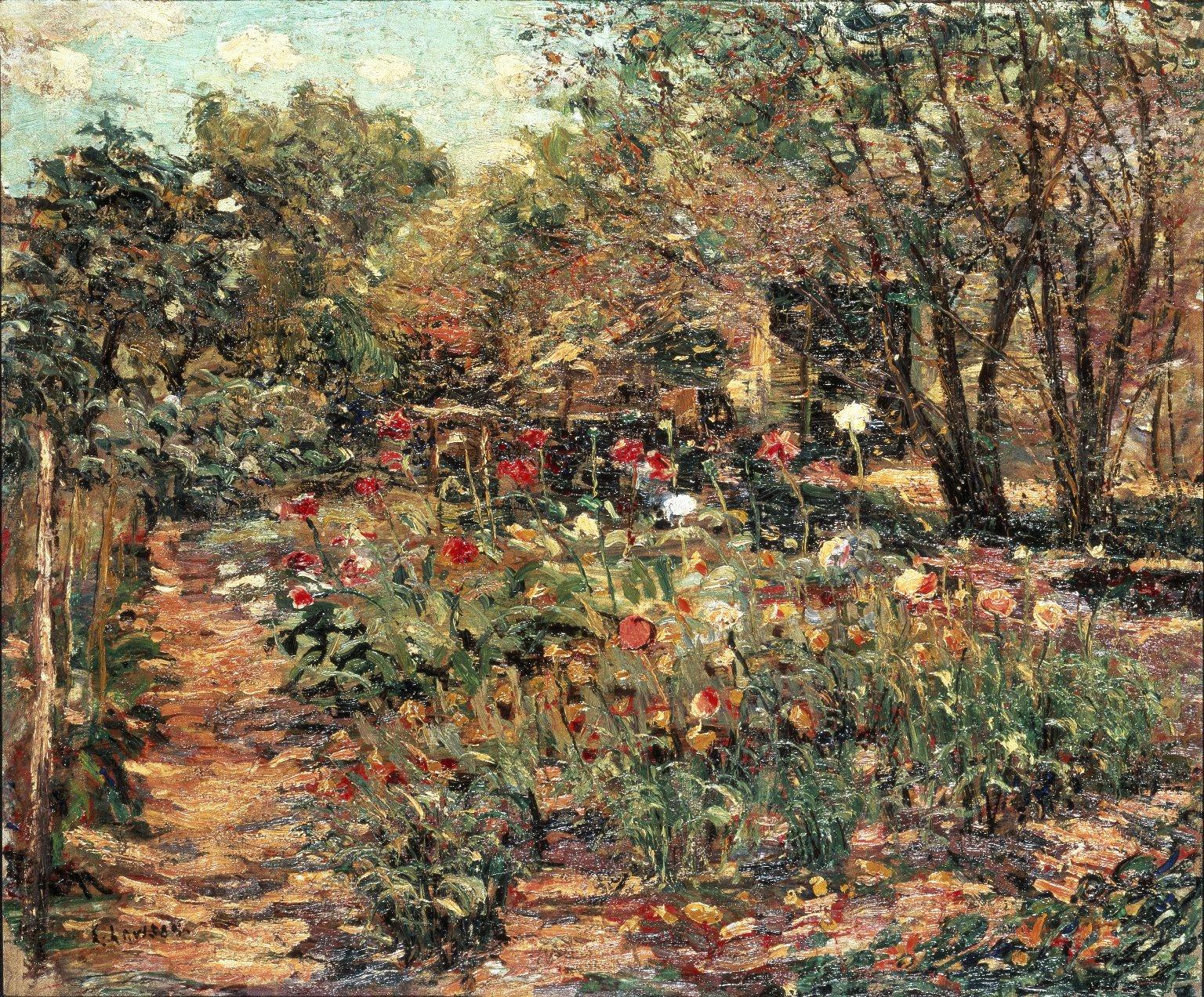 花园景观_Garden Landscape-欧内斯特·劳森