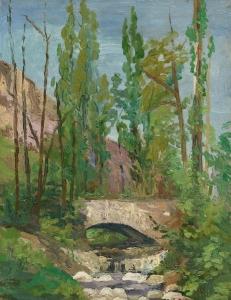 景观与杨树_Landscape with Poplars-理查德·爱德华·米勒