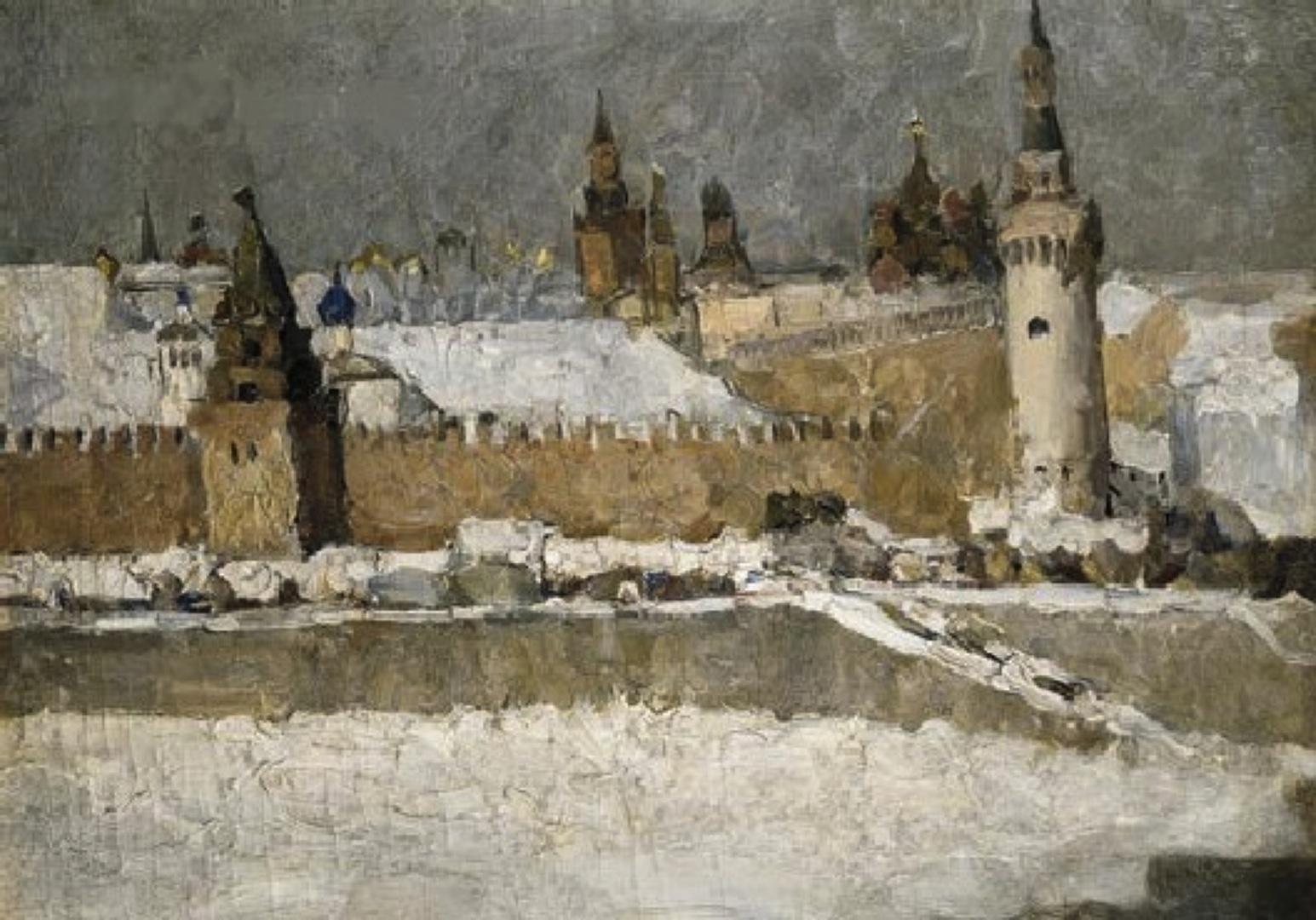 克里姆林宫在冬天_Kremlin in winter-伊利亚·马什科夫