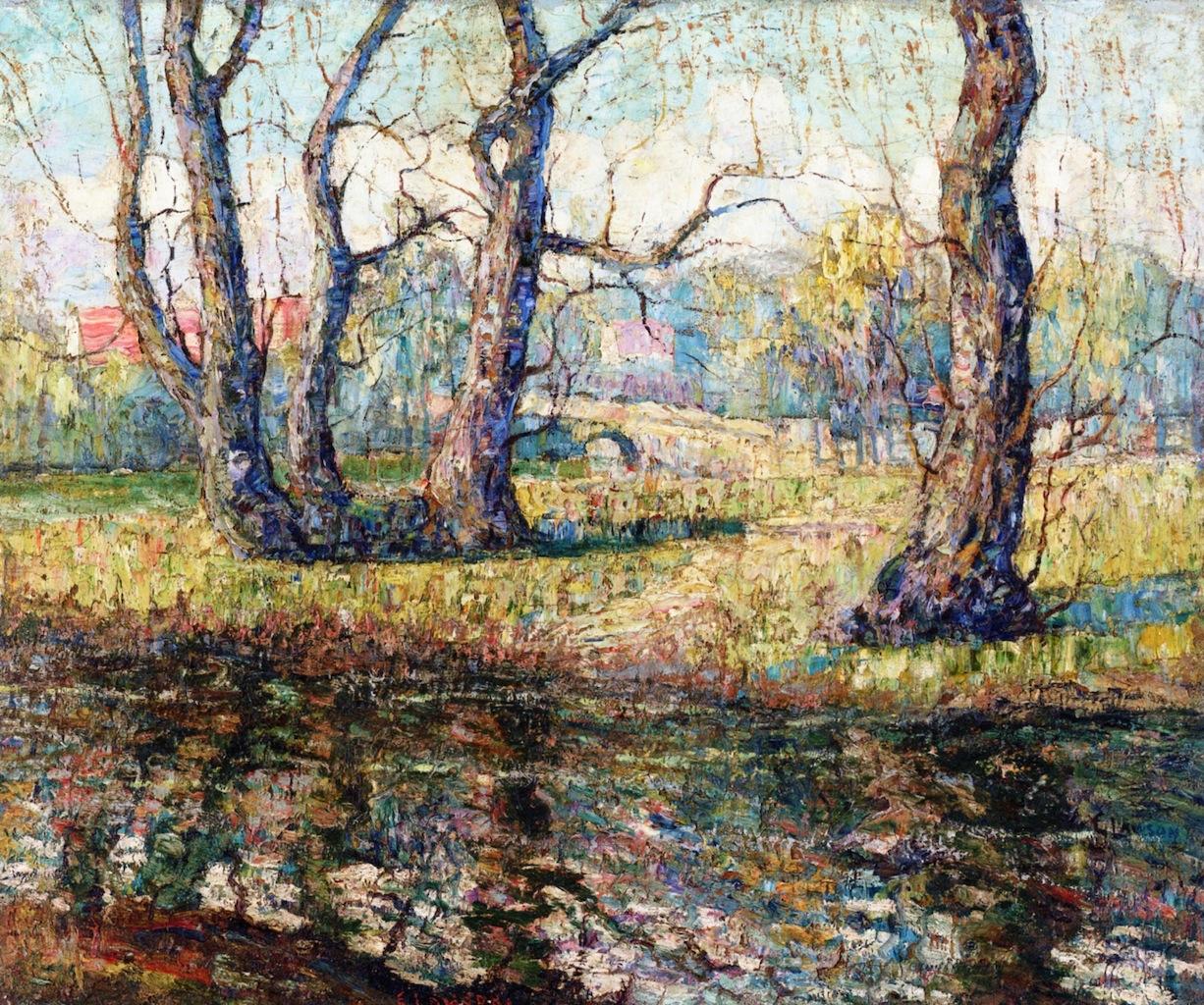 老柳树_Old Willows-欧内斯特·劳森