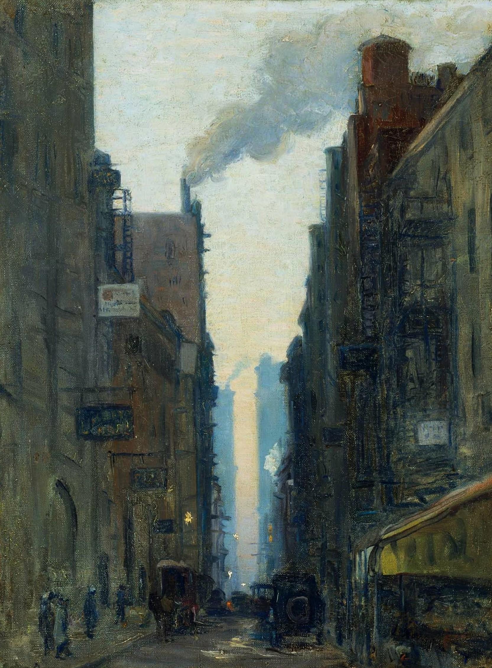 纽约街景_New York Street Scene-欧内斯特·劳森