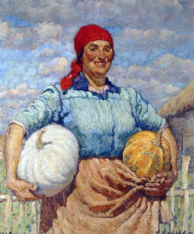 农民和南瓜_Farmer with pumpkins-伊利亚·马什科夫
