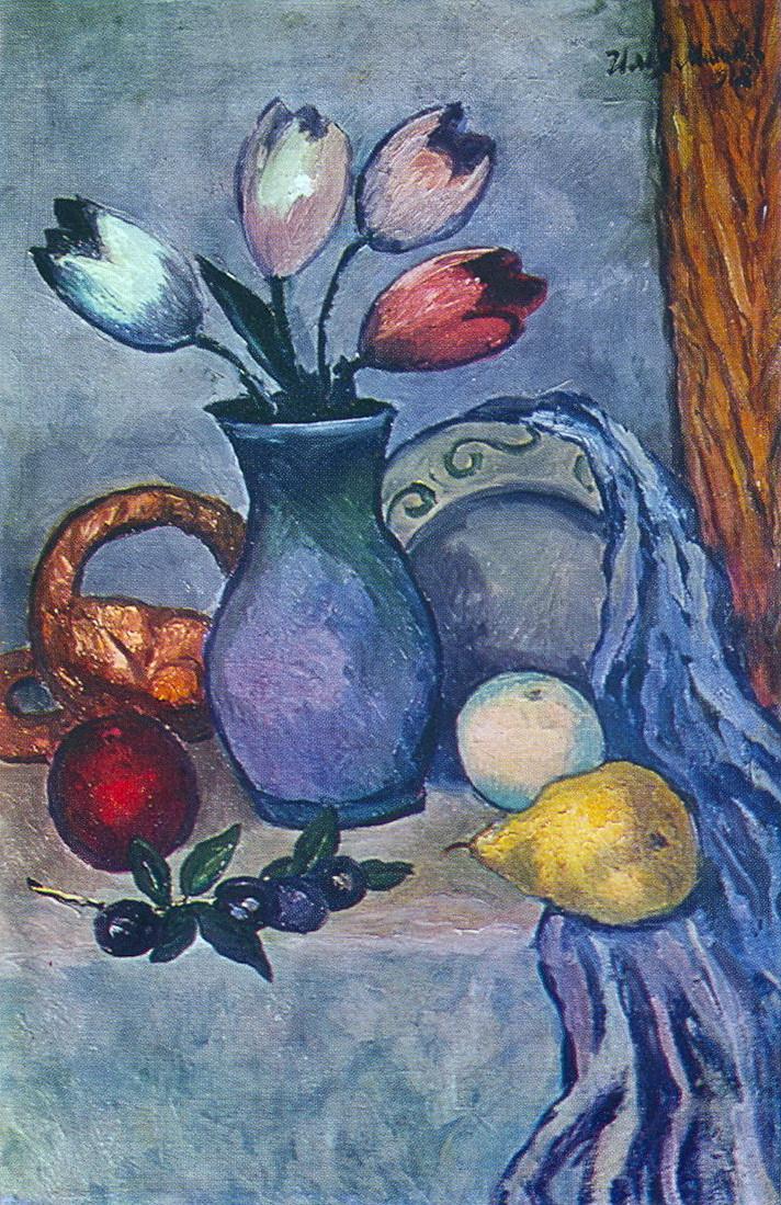 水果和郁金香_Fruit and Tulips-伊利亚·马什科夫