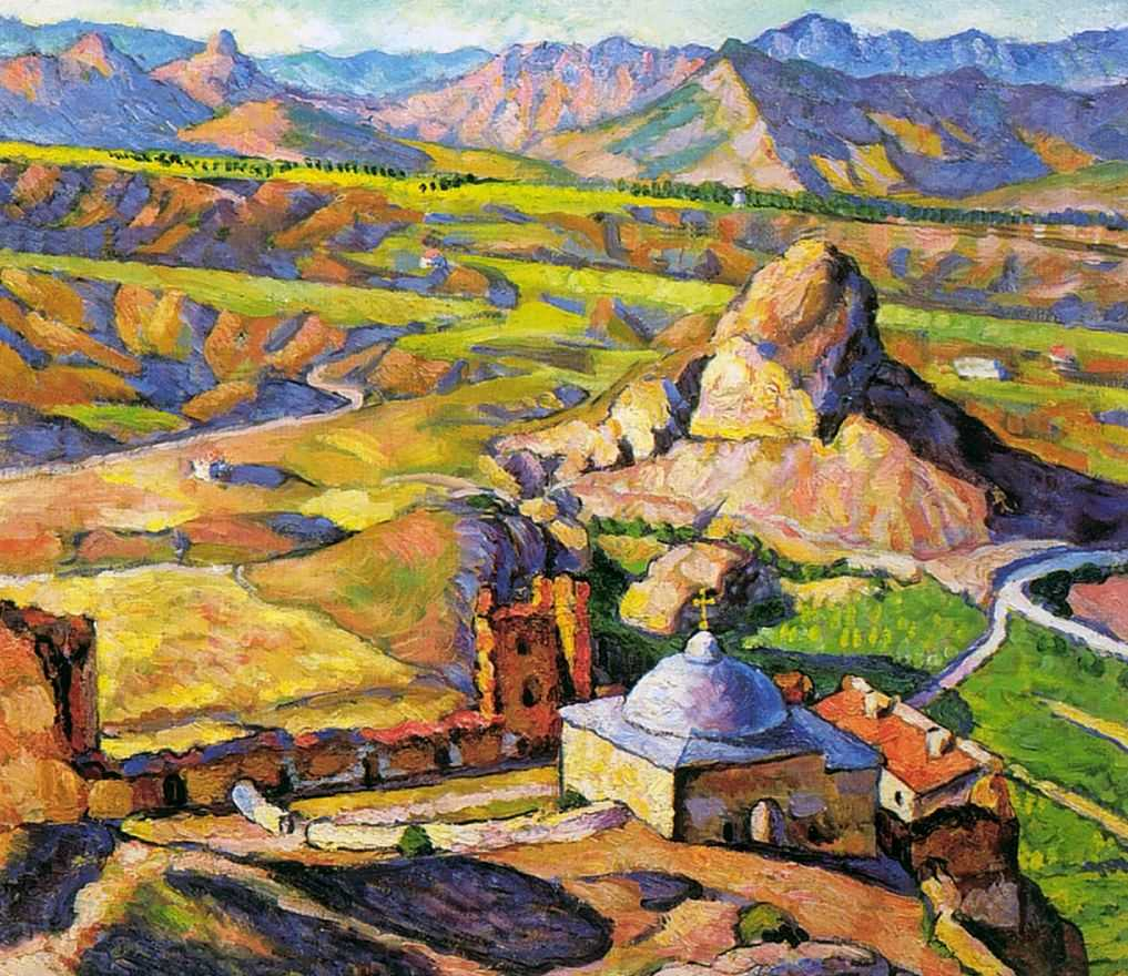 苏达克的热那亚要塞_View of the Genoese Fortress in Sudak-伊利亚·马什科夫