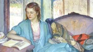 小姐读_Young Lady Reading-理查德·爱德华·米勒