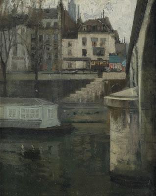 沿着塞纳河_Along the Seine-理查德·爱德华·米勒