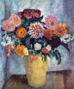 装在陶罐里的花束_Bouquet in a clay jar-伊利亚·马什科夫